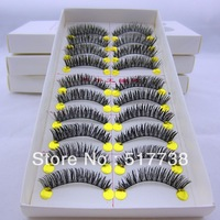 Hot Sale Natural 10 Pair Thick False Eyelashes Lashes Voluminous Makeup #A27 Free Shipping