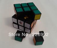 Retail Drop Shipping 1pc/lot 5.7cm Type A II V2 3x3x3 magic cube Guojia alpha speed cube black/white +Free Shipping