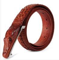Pin buckle personality crocodile leather belt male cowhide plus size wide belt waist belt male
