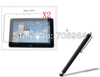 2xNew LCD Clear Screen Protector Film Films Guards+Stylus For Acer Iconia Tab A700 A701 Tablet PC,free shipping!!!