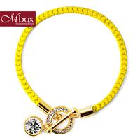 Mbox bracelet female fashion neon color wristiest rhinestone summer