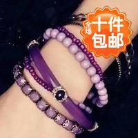6003 bohemia ocean wind fresh blue beads multi-layer bracelet accessories female