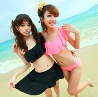 Bikini swimwear female small push up bikini dress piece set hot spring swimsuit