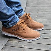 Canvas shoes men male casual shoes low shoes nubuck leather lacing