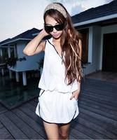 Small steel push up swimwear 2013 wind bikini piece set female swimwear  Free Shipping Two color; Black, white