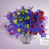 (24heads/bunch) Silk/Simulation Flower/Peach Romantic,Wedding Decorative Flowers Artificial Bouquet Gift.Free shipping