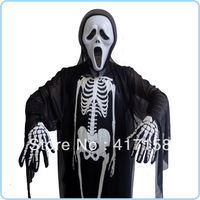 Masquerade costumes halloween clothes skull skeleton child mask of terror