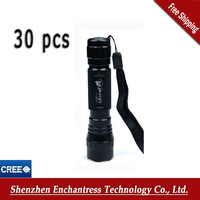 Promotion!! Lowest Price !!30PCS/LOT Ultrafire WF-501B Cree XML T6 1200 Lumen 5-Mode LED Flashlight, DHL Free shipping