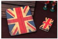 Hot Sale!! Fashionable Retro British National Flag Hard Back Cover Case For Apple New iPad for iPad2 ipad3 free shipping
