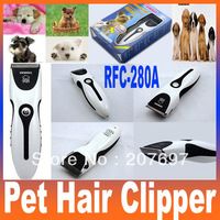 Electric Rechargeable Animal Dog Cat Pet Hair Clipper Trimmer Clipper Shaver Razor Grooming RFC-280A Free Shipping