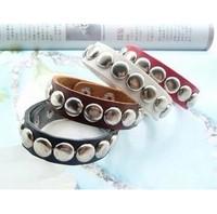 Free Shipping PUNK Lee Hyori Love Nail Round Rivet Bracelet Leather Bracele 6pcs