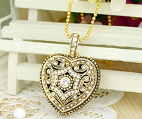 Full Cabacity 2G/4G/8G/16G/32G flash drive pen drive usb flash drive Gold Heart Necklace Free shipping+Drop shipping,LU109-1