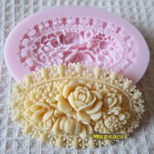Frete grátis 3D Mini flores rosa moldes de silicone sabão artesanal fondant , DIY Soap / Fimo / bolo / molde do chocolate , ferramentas de decoração do bolo(China (Mainland))