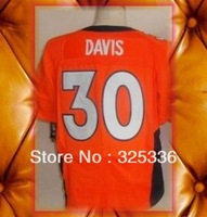 Denver 30 Terrell Davis Orange Elite Football Jerseys 2013 New Mix order
