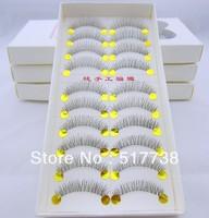 Natural Long False Eyelashes 20pairs/lot Mink Eyelash Eye Lashes Makeup #216 Transparent Plastic Free Shipping