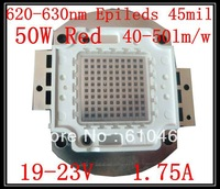 50W Red LED Free shipping 50W Epileds 45mil 2000-2500LM 620-630nm Red High power LED