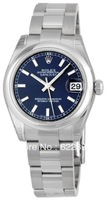 Datejust Blue Index Dial Oyster Bracelet Unisex Watch 178240BLSO