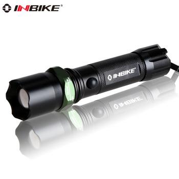 Inbike 603 glare flashlight waterproof household q5 mobile phone usb charge belt life-saving hammer