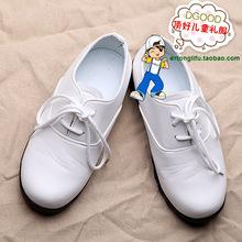 Male child leather black white boy formal dress flower girl leather formal child student leather(China (Mainland))