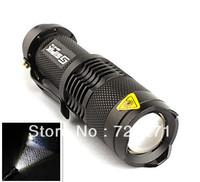 LED Torch 300LM TK68 CREE Q5 LED Flashlight Adjustable Focus Zoom flash Light Lamp free shipping