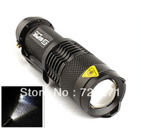 LED Torch 300LM TK68 CREE Q5 LED Flashlight Adjustable Focus Zoom flash Light Lamp free shipping