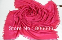Women cotton+Wool Scarf Shawl Lady luxury designer Square shawl wrap 150*150 cm in HOT PINK M72046 M74896 M71378 M74895 M71376