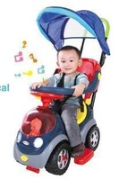 Baby stroller 7611 four wheel cart walker baby stroller belt tarpaulin