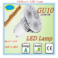 GU10 Spotlight 9w 3x3w Dimmable Led Lamp Energy Saving 85V-265V Warm/Pure/Cool White Lighting with good quality