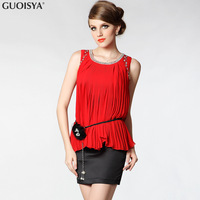 Guoisya red dress short design one-piece dress formal dress sa1821