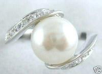 beautiful White Shell Pearl silver Ring Rize 7.8.9 / Free Shiping