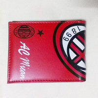 AC milan Football sports fans souvenirs wallet football fashion PU Large ICONS badge purse 1PCS