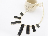Europe and the United States exaggerated metal drip geometric fashion necklace