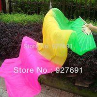 2014 Fashion three-color gradient younger dance fan 1.8 meters lengthen dancing fan