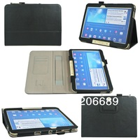 30pcs\lot Free Shipping For Samsung Galaxy Tab 3 10.1'' Case With Hand Holder,Luxury PU Leather Case For Samsung Tab 2 P5200