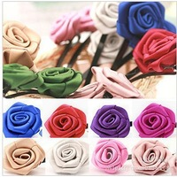 free shipping hairclip with ribbon flower  hair assceeories  headwear  hairornament