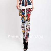 Free shipping retail&wholesale Summer legging women's ankle length headcounts legging letter fashion doodle trend