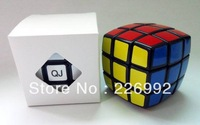 Retail/Drop Shipping 1pc/lot 5.2cm QJ Bread Shape 3x3 Cube White/bBack Educational toys Christmas Gift idea +  Free shipping