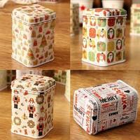 Exclusive Christmas series mini caddy take zakka receive tin box support wholesale 12pc/lot  free shipping
