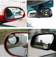 Free Shipping 1 pair small round mirror + adjustable rotate 360 degrees +auto supplies astern mirror car rearview side mirror