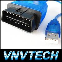 Whole sale USB Cable Car Diagnose tool KKL VAG 409 scan tool OBD2 OBD OBDII COM Scanner