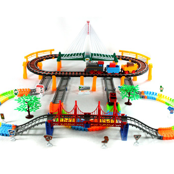 Children's educational toys Thomas rail electric toy train double track suit oversized small train car toys