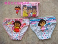Hotsale Child Cartoon Panties Girl Triangle Panties MINNIE Dora Strawberry Shortcake Underwears Teenagers Carton Figures Briefs