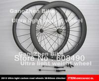 carbon fiber light weight road bike wheels,700C high quality 38/60mm