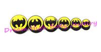 New Arrival Flesh Tunnel Ear Plug Batman 6-16mm Ear Expander Piercing Fashion Body Piercing Jewelry Earring Bat Hero Symbol punk