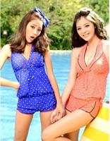 2013 steel push up bikini swimsuit hot springs wind bikini female swimwear  bathing suit Women's clothing Free Shipping