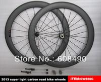 60mm clincher carbon road bike wheels 700C high quality and door to door service