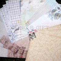 18pcs/ Set 6 Designs Mixed Natural Series Scrapbook Paper Patterned Paper For DIY Album, Free Shipping
