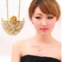 Free shipping  accessories bohemia mask rhinestone small flower short necklace