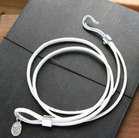 Free shipping  accessories mm personalized hook small round leather bracelet