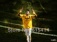"05 Neymar da Silva Santos Brazil soccer star 32""x24"" inch wall Poster with Tracking Number"